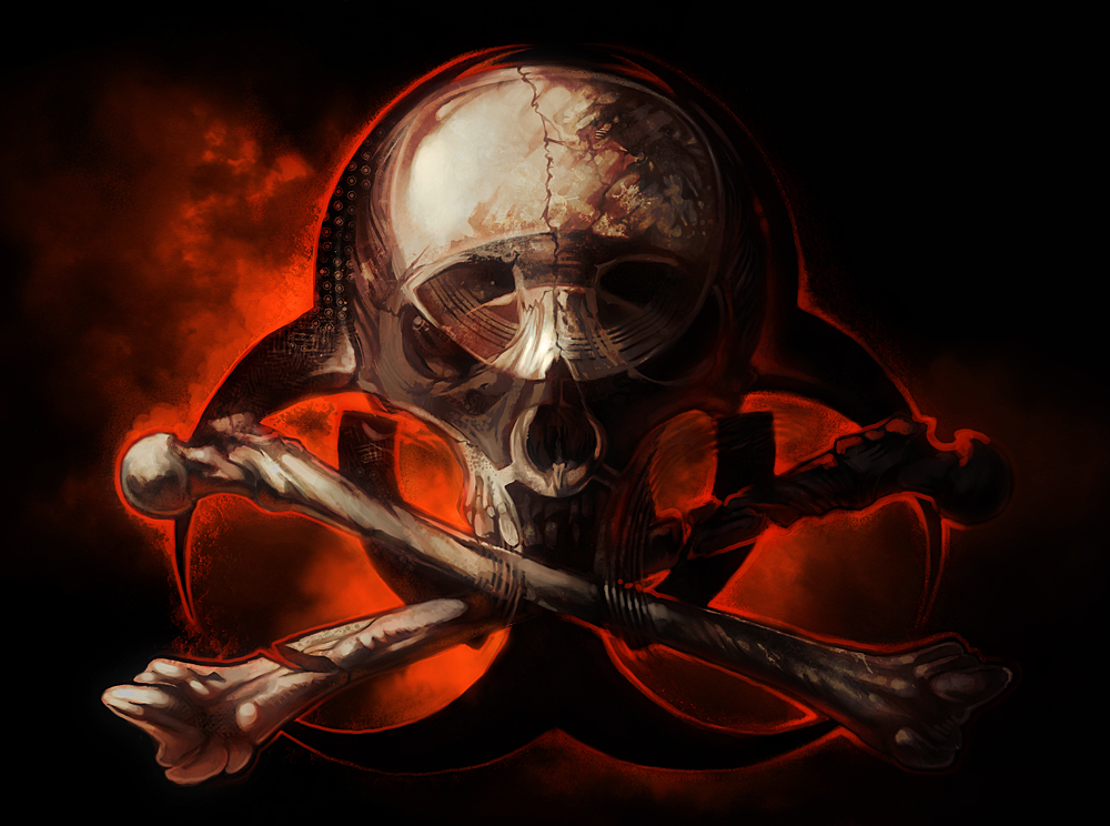biohazard skull - photo #3