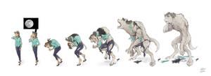 Megumi Werewolf Transformation Sequence by Pakeet