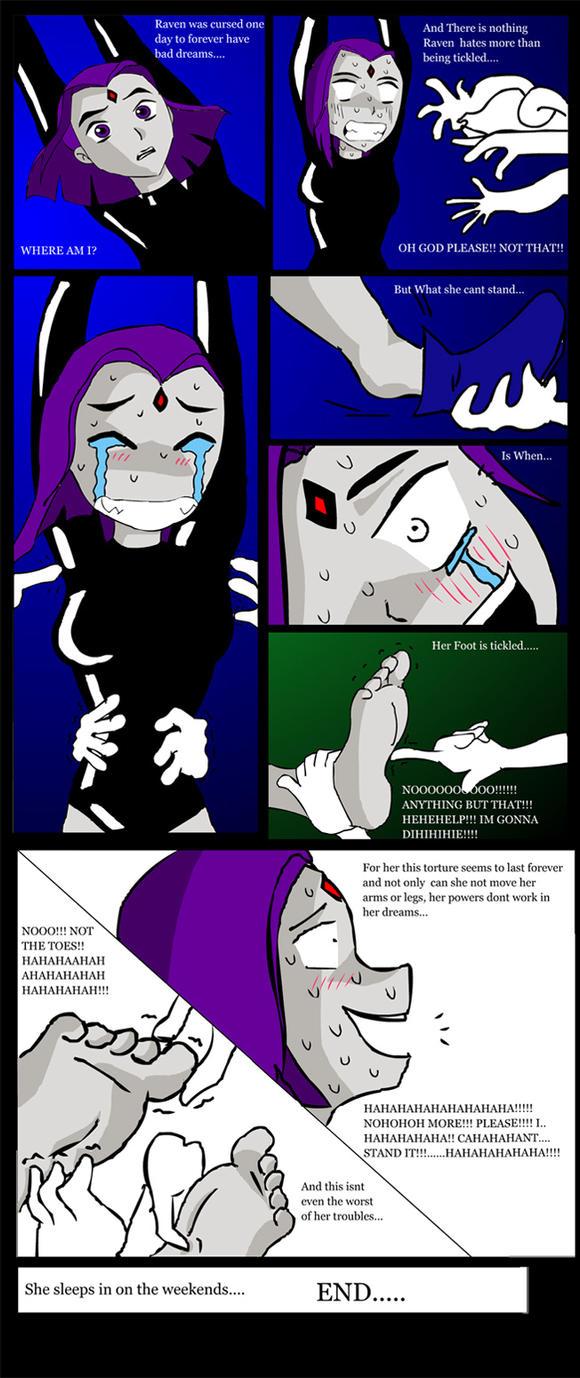 Raven Tickling comic by Spongero29