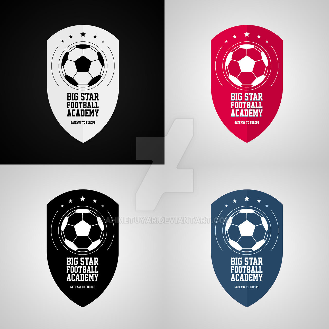 big star football academy logo design by ahmetuyar on deviantart