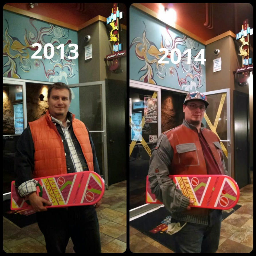 Marty Mcfly 1985 and 2015 Cosplay by TB7024