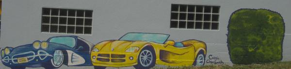 Varsity Automotive Mural by pokadotspider