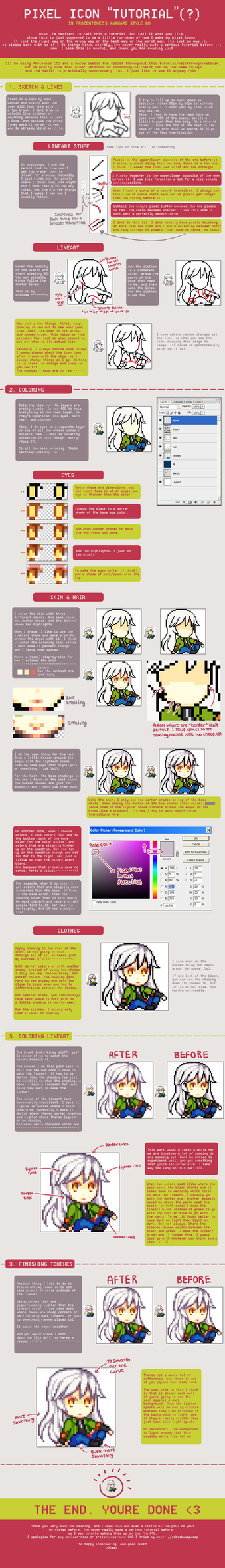 Awkward Pixel Icon Tutorial by FrozenTimez