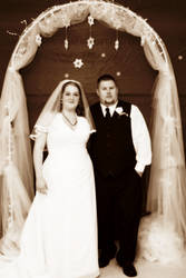 Bride and Groom by paintedfingers