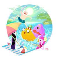 Summer Time!!! Adventure Time by kyasarinnlove