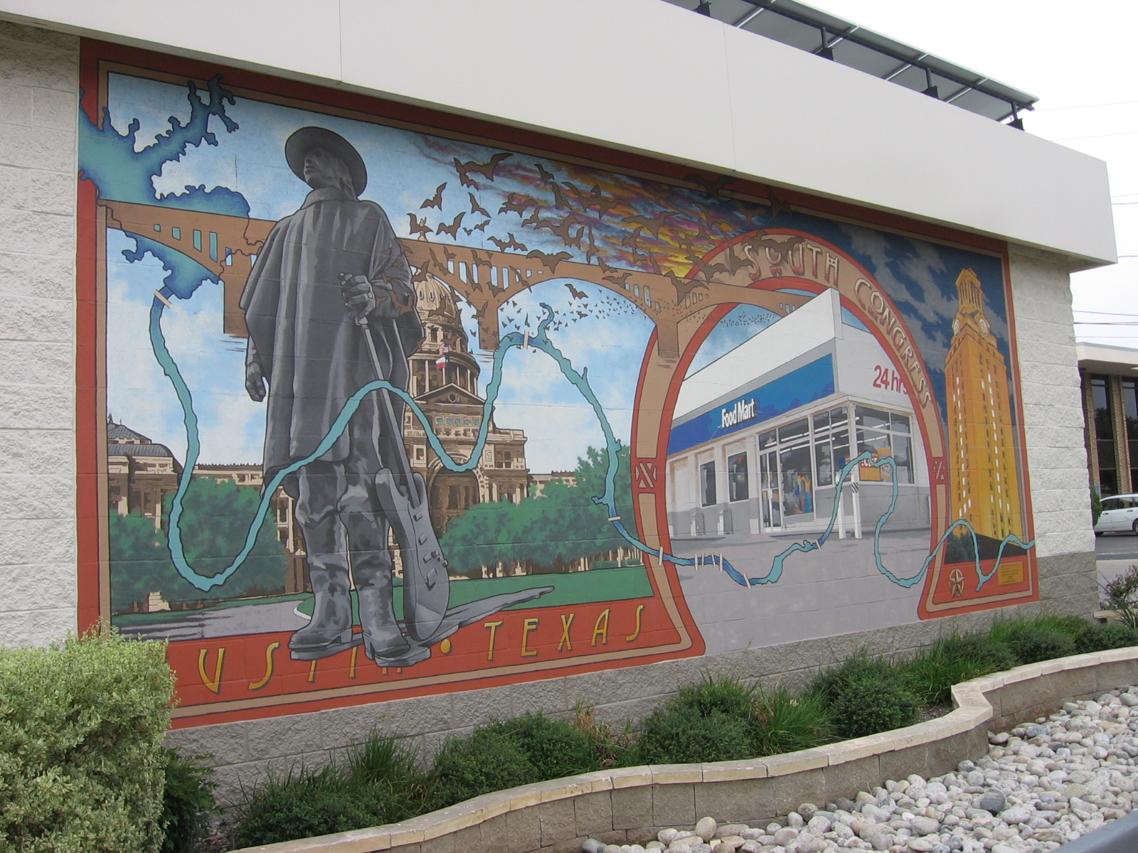Chevron gas station mural by humblequietone on deviantart for Cleveland gas station mural