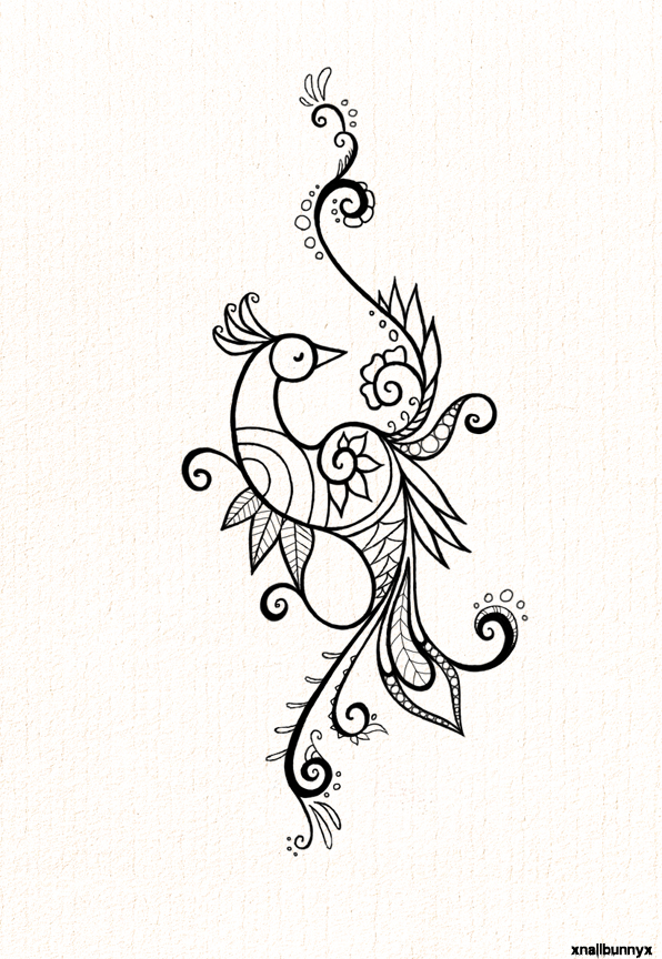 54 Gorgeous Peacock Tattoo Designs with Meaning for Everyone  |Peacock Tattoo Black And White