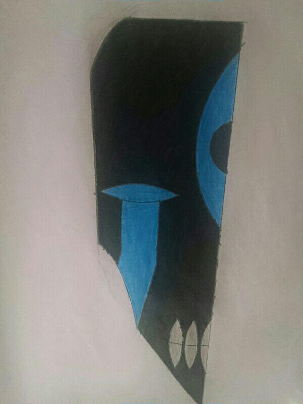 Original vs. re-drawn pt.2 (my mask) by DreikoValentein