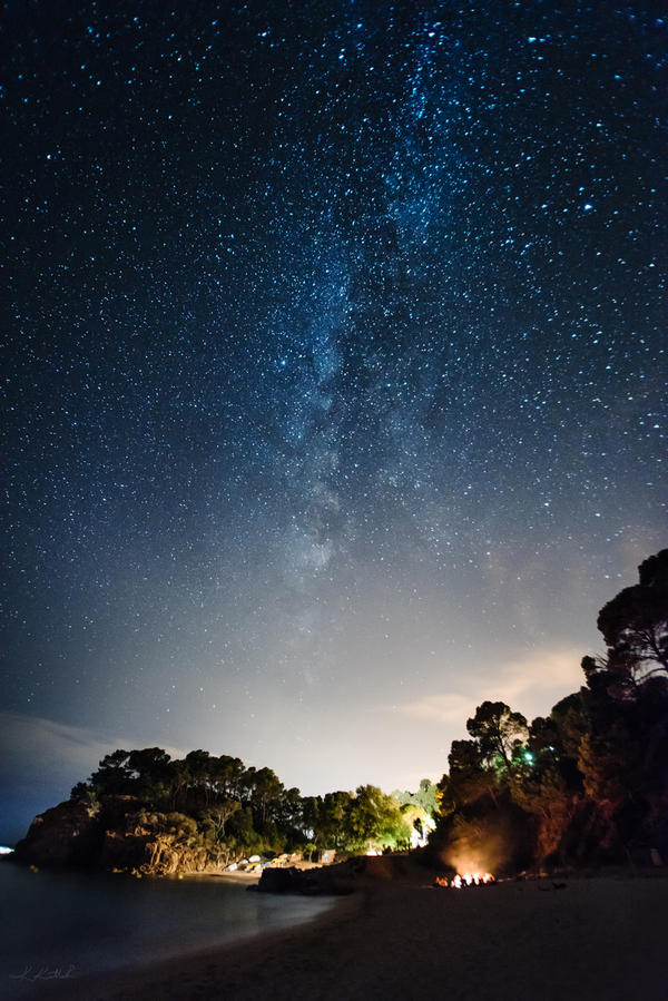 camping under the milkyway by intels