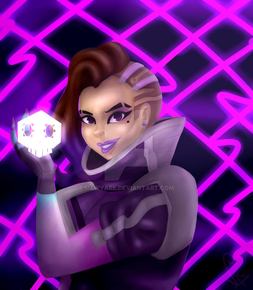 Sombra - Overwatch + SPEEDPAINT by MewYare