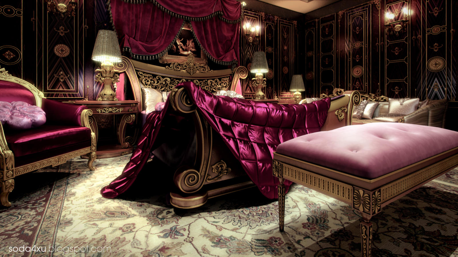 Classic Master Bed Room By Soda4xu