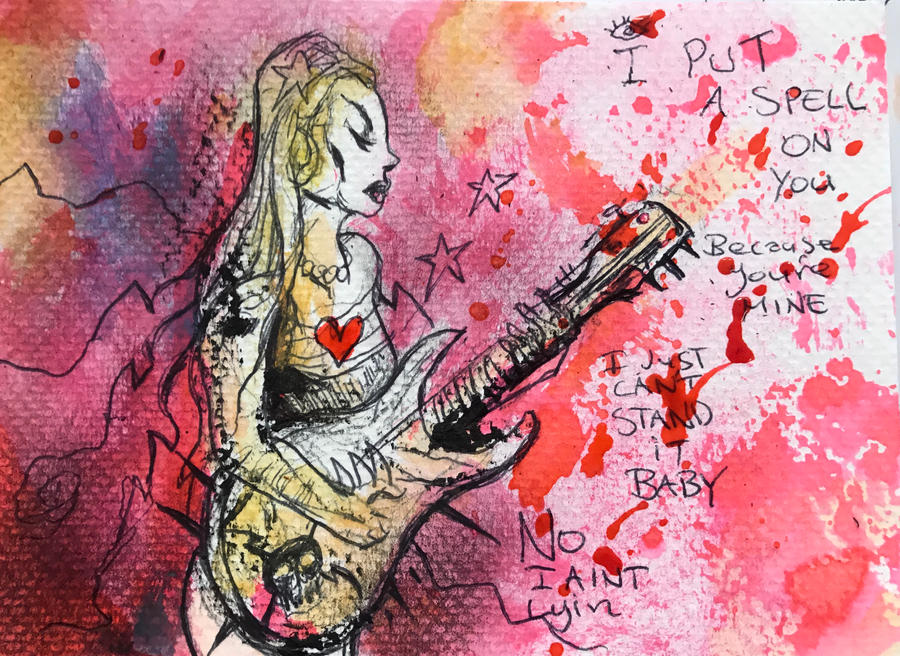 The girl with the guitar by hydra2007