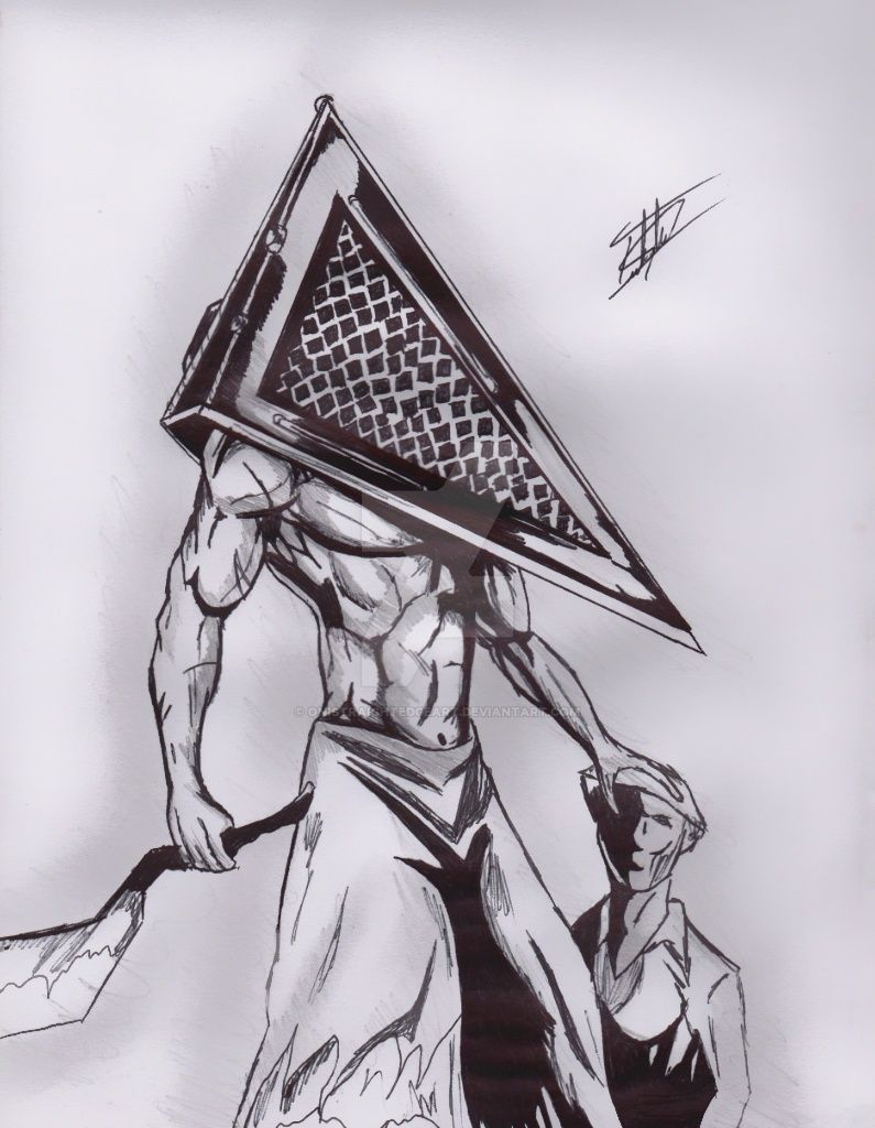 mi dibujo de silent hill de pyramid head by onistraightedgeart on
