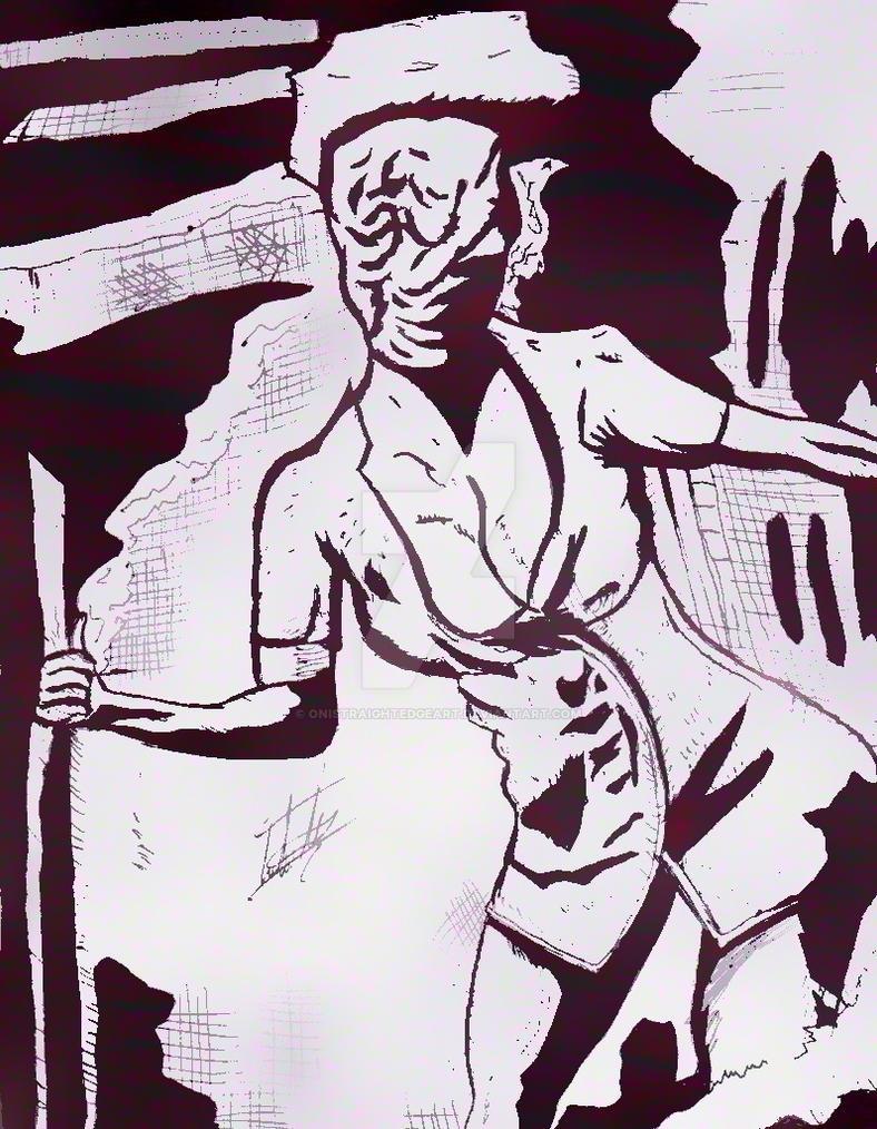 mi dibujo de la enfermera de silent hill by onistraightedgeart on