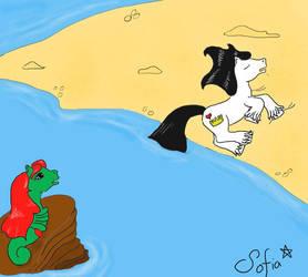 Little mer-pony by Gwendelyn