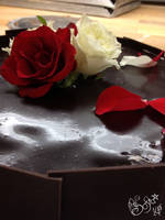 Chocolate cake - close up by Gwendelyn