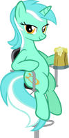 Lyra at the bar