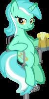 Lyra at the bar