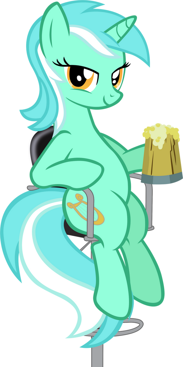 Lyra Sitting Vector Lyra at the bar by Ast...