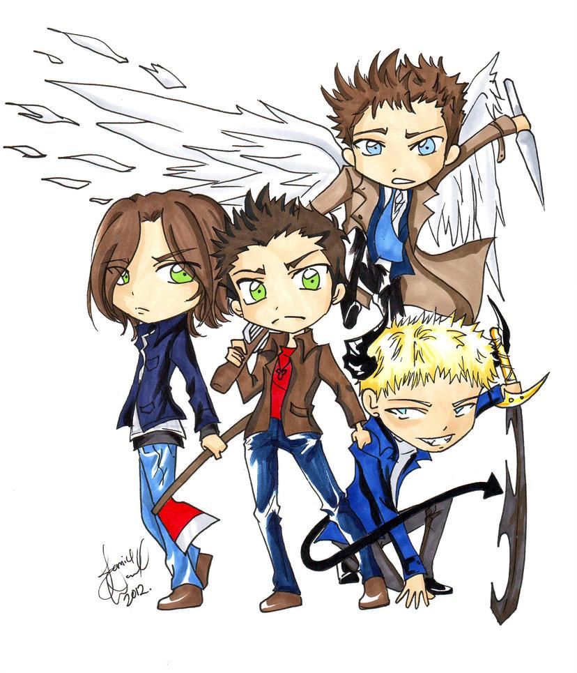 : :Chibi Supernatural: : By AnimeJanice On DeviantArt
