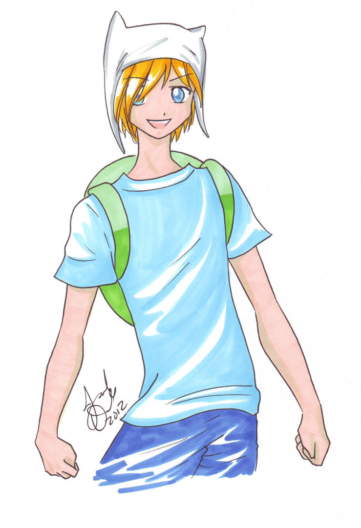 Adventure Time: Anime Finn by AnimeJanice on DeviantArt