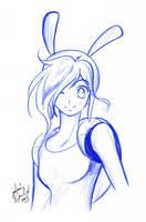 Adventure Time Anime Fionna Sketch by AnimeJanice