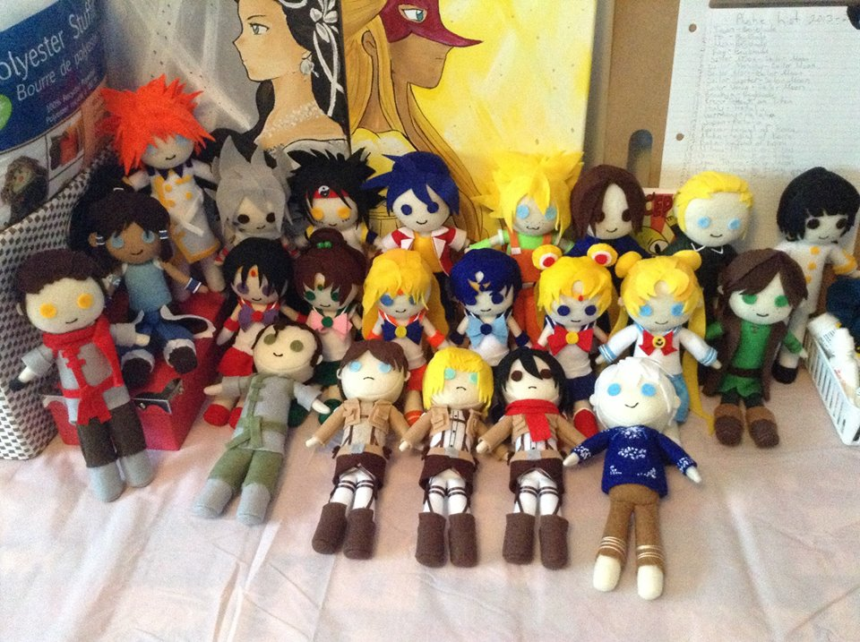 Plushies for Ai Kon 2014 by AnimeJanice
