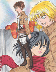 Attack on Titan The Wall by AnimeJanice