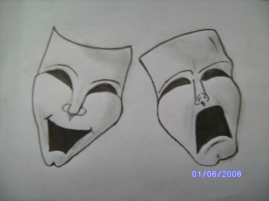 Crying And Laughing Masks By Kiro The Joker On Deviantart