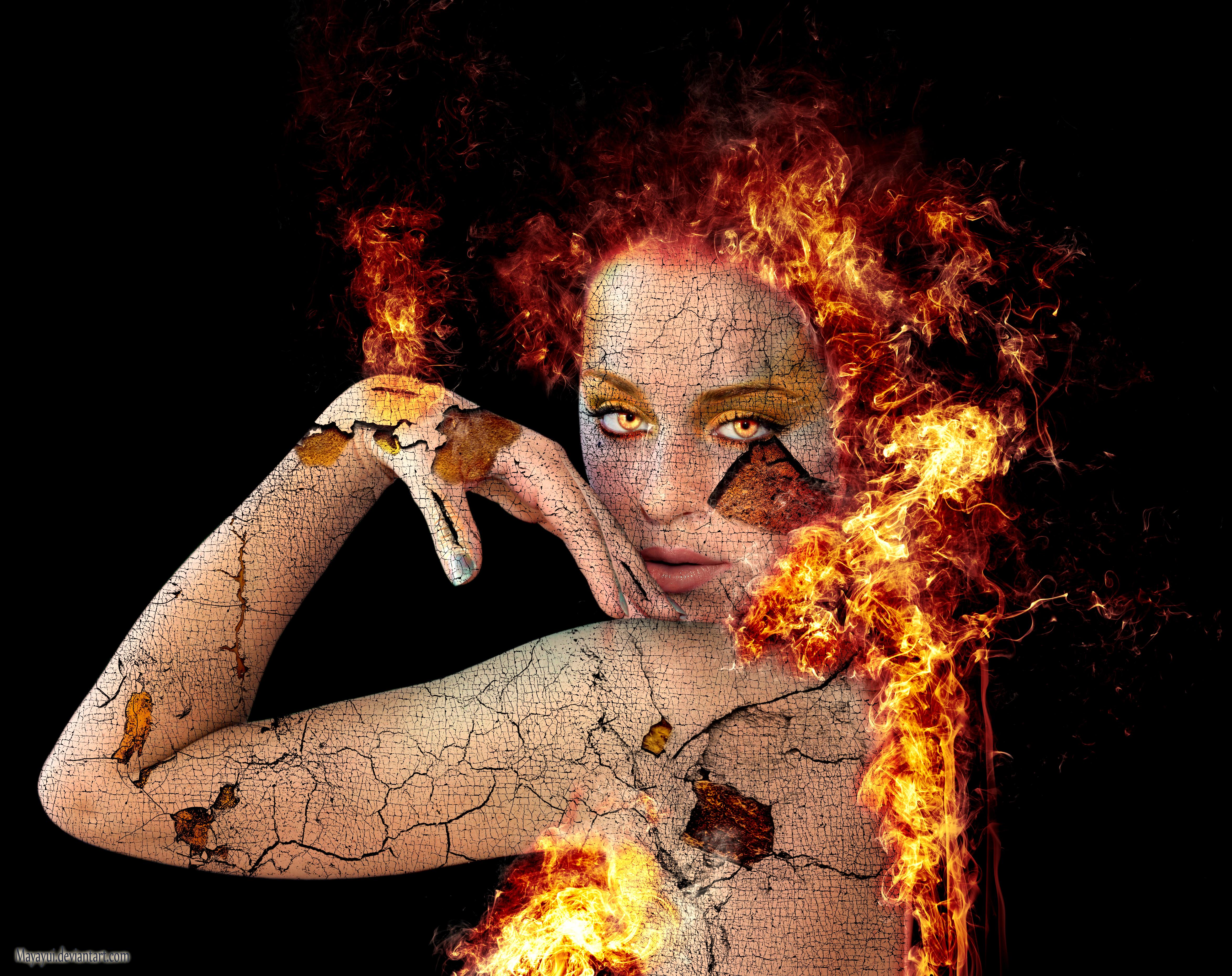Firewoman by Mayayui