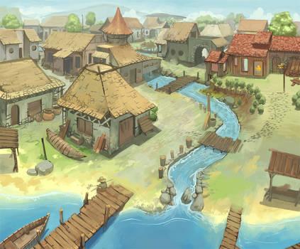 Concept village by raqsonu