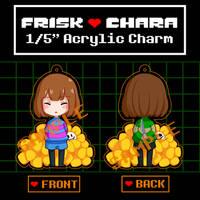 Frisk/Chara Acrylic Charm