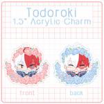 Flower Todoroki Double Sided Acrylic Charm