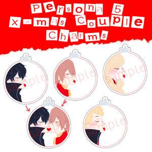 Persona 5 Christmas Couple Charms