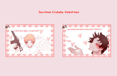 Devilman Crybaby Valentines Cards