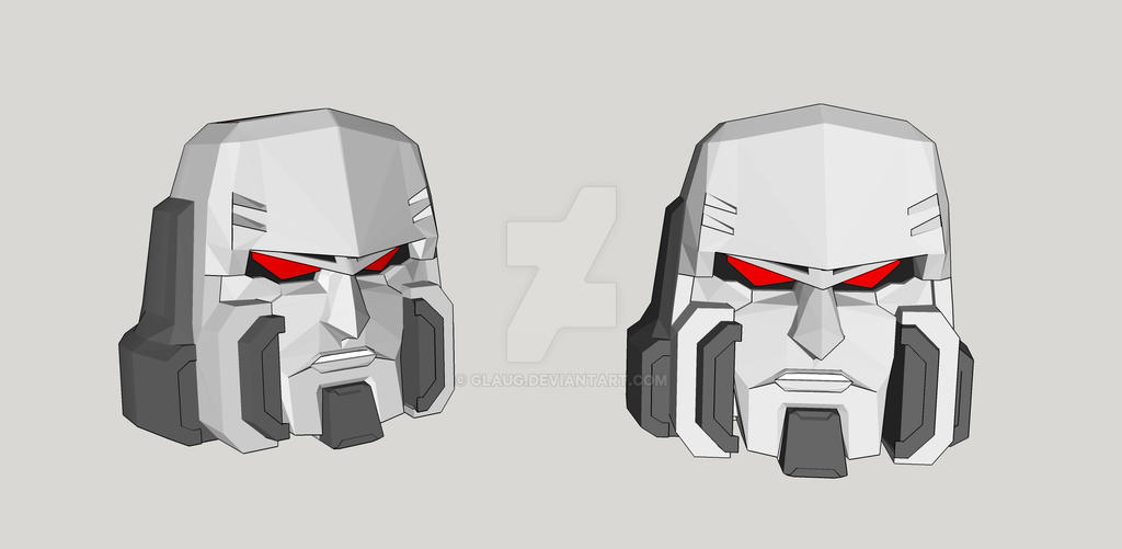 IDW Megatron Head by GlauG