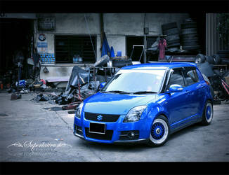 Suzuki Swift Sports + BBS by solace69