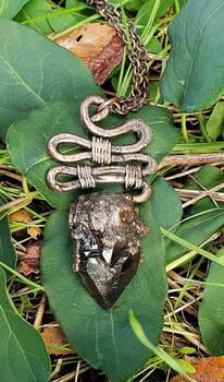 Smokey Quartz Crystal Copper Electroformed Pendant