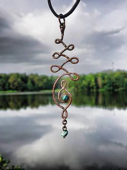 Unalome Symbol copper electroformed Pendant