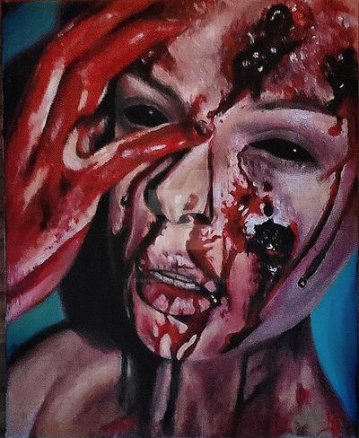 Oil Painting Portrait - Horror by SoulVibrationArt