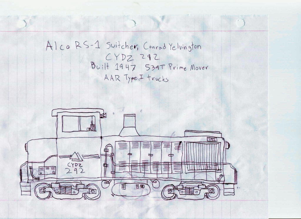 ALCo RS-1 Pen Drawing by Silverwolf-1ofmany