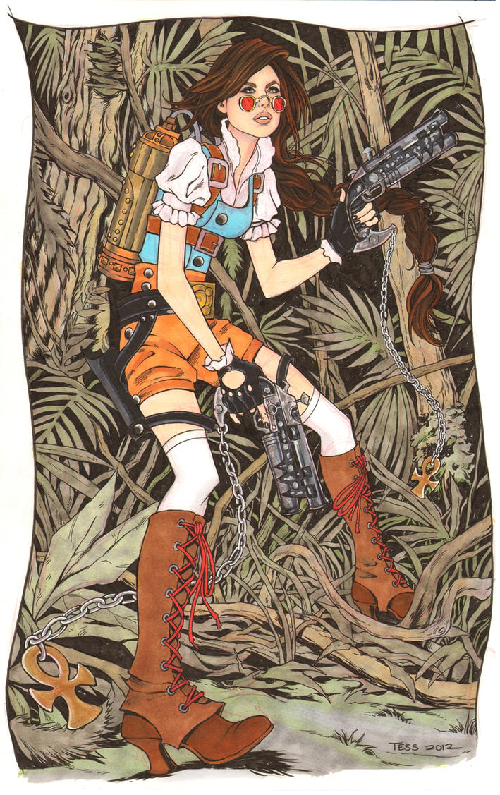 Steampunk Lara Croft in Color by TessFowler