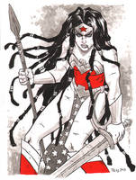 Wonder Woman warm up art by TessFowler