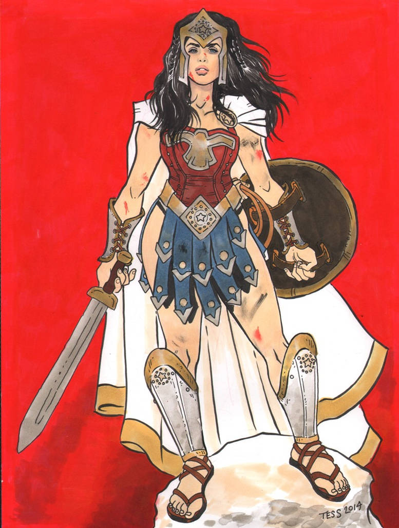 Meagan Marie as Warrior Wonder Woman Commission by TessFowler