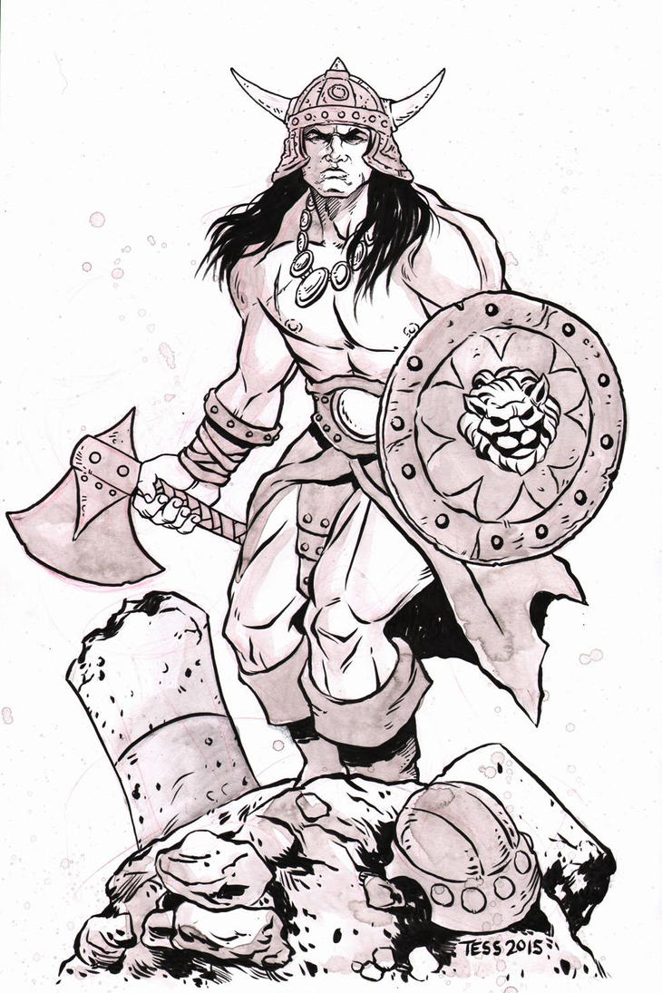 Conan the Brutal Statue Commission by TessFowler