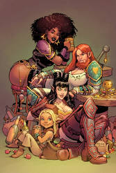 Rat Queens Trade Cover by TessFowler