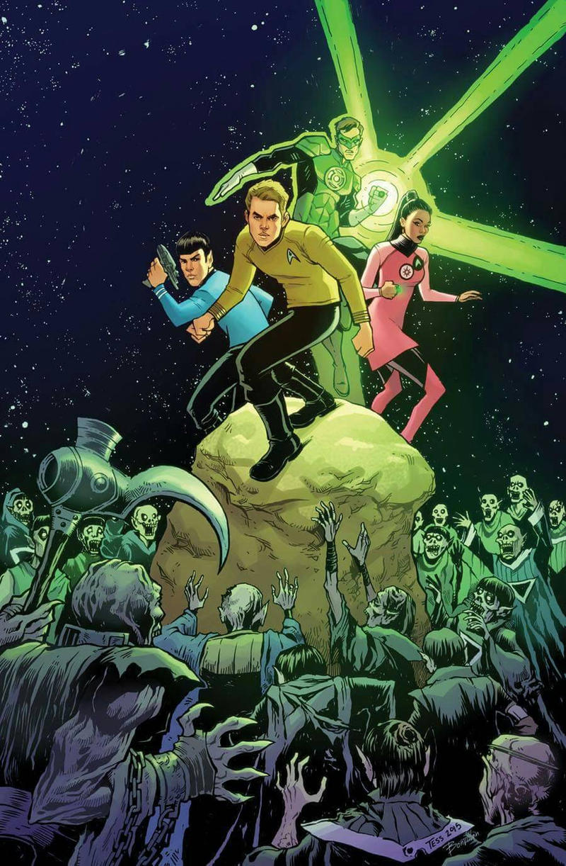 Star Trek Green Lantern Variant Cover by TessFowler