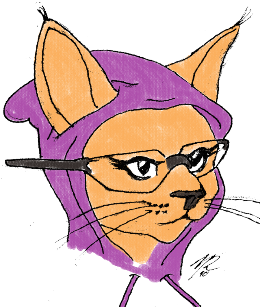 Happy Birthday Hipster Cat Hipster kitty drawing by