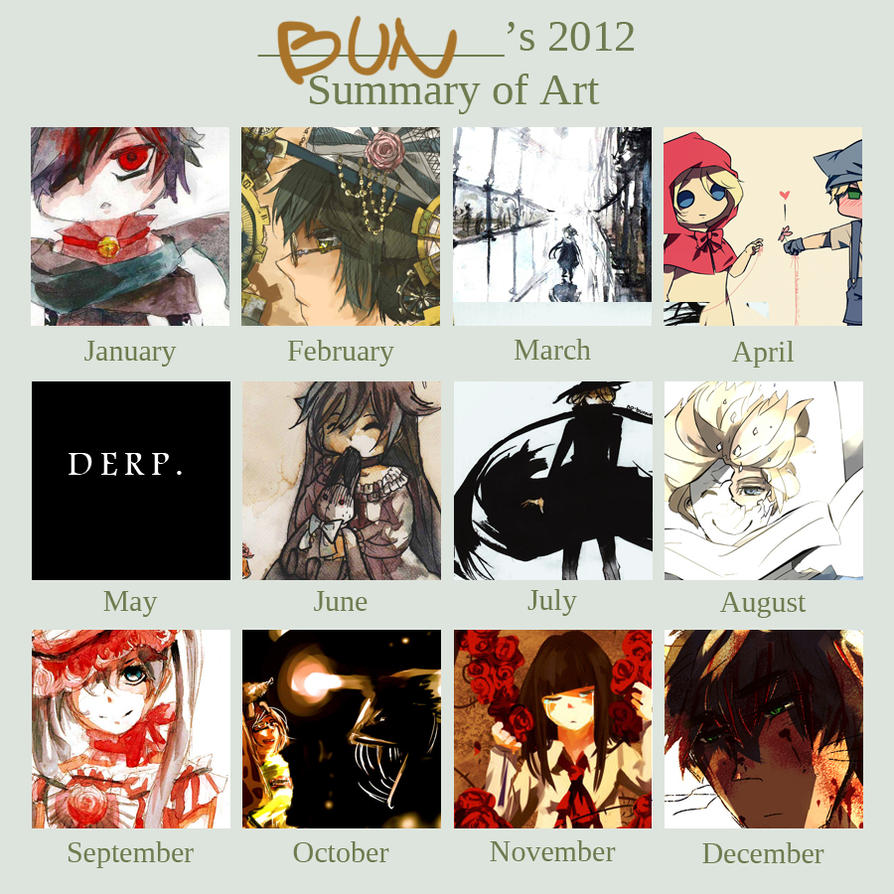 2012 Art Summary by no-bunnies