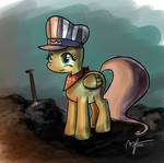 Fluttershy the Train Conductor